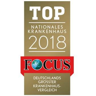 Сертификат рейтинга лучших клиник по оценке журнала Топ Фокус.