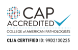 College of American Pathologists (CAP) Accreditation Certificate