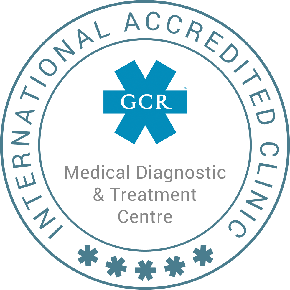 В июне 2018 г. Медицинскому центру диагностики и лечения (далее – Центр, МЦДЛ) был выдан сертификат качества Global Clinic Rating (Мировой рейтинг медицинских учреждений, далее – GCR). Данный сертификат подтверждает, что МЦДЛ входит в число 100 мировых клиник, оцениваемых как медицинские учреждения, превосходящие международные стандарты.
